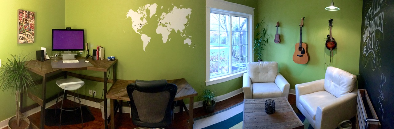 Panoramic view of my office