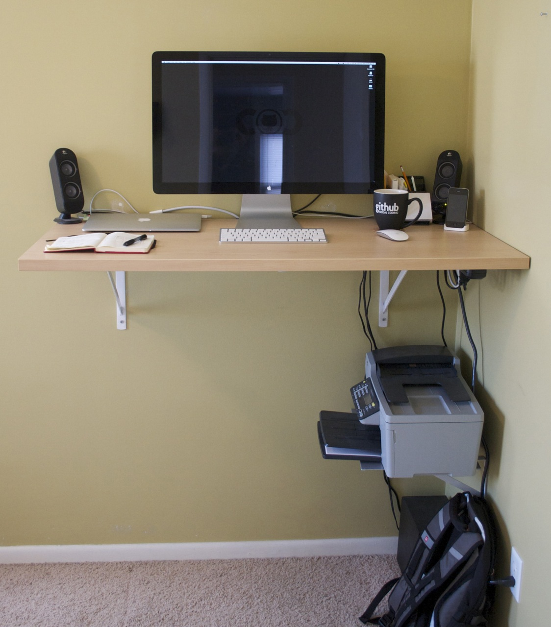 The finished standing desk
