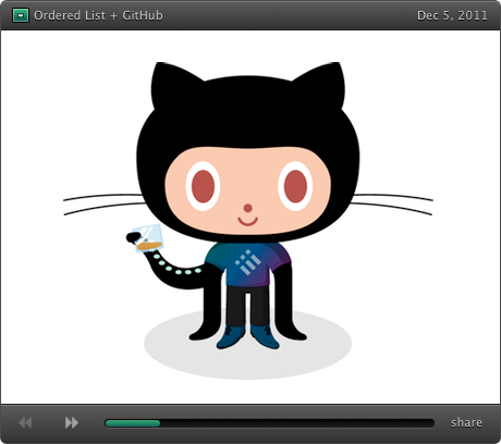 Ordered List Octocat
